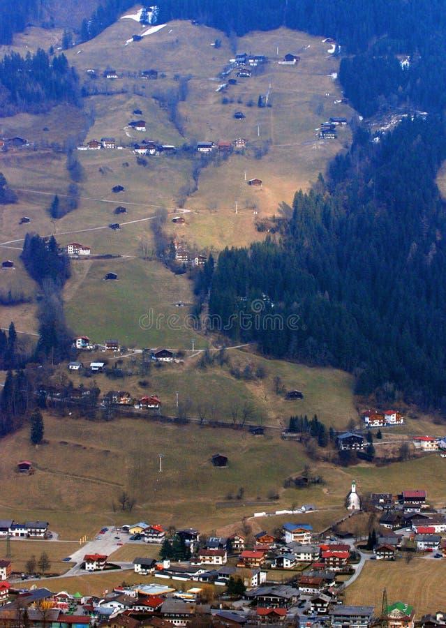Dorp in Oostenrijk stock foto