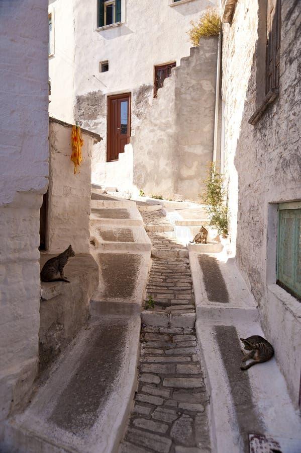 Dorp op Samos stock foto