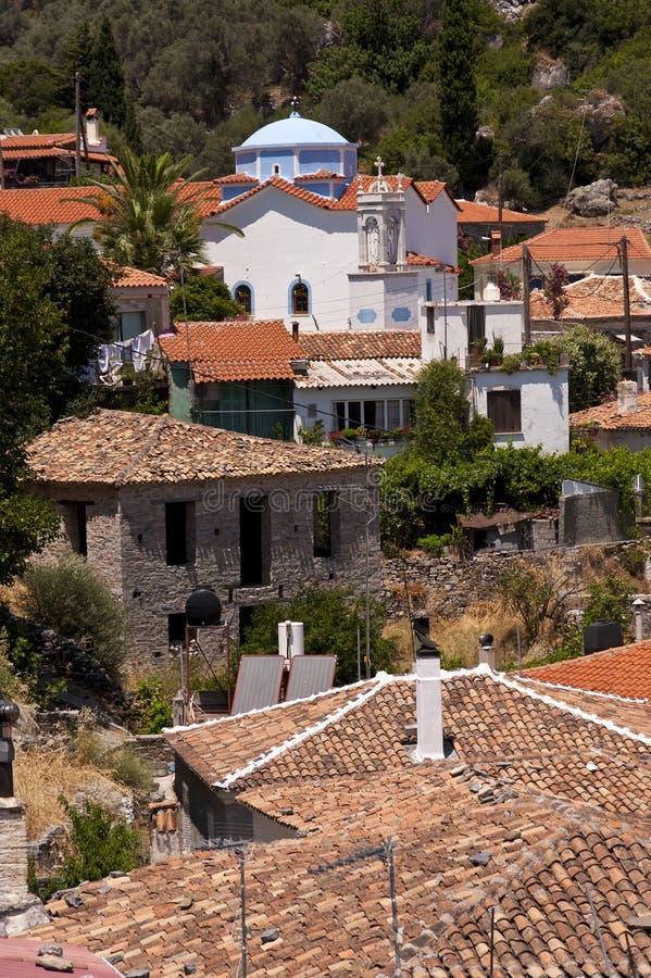 Dorp op Samos royalty-vrije stock foto