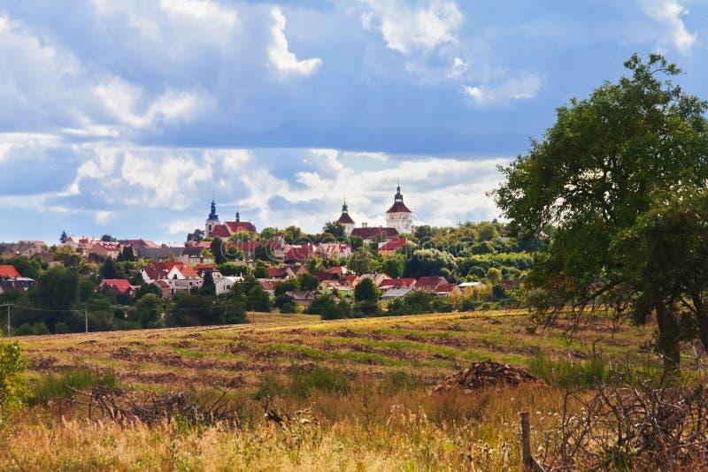 Dorp Smecno - Tsjechische republiek stock foto's