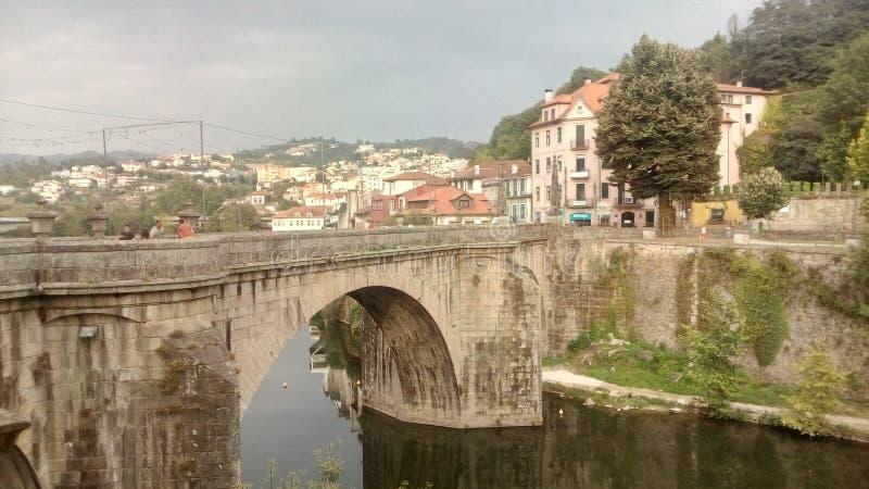Dorp van Amarante in Portugal stock afbeeldingen