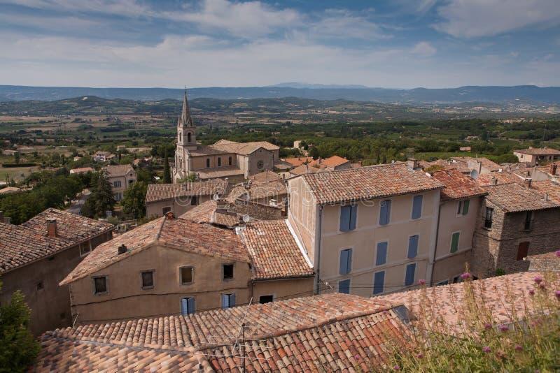 Dorp van Bonnieux in het Zuiden van Frankrijk royalty-vrije stock foto's