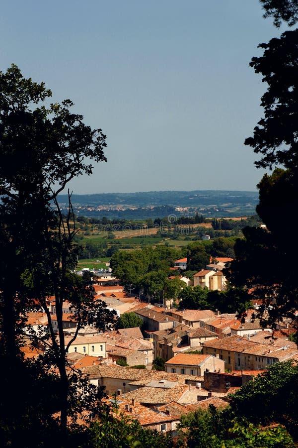 Dorp van de Provence Frankrijk stock afbeelding