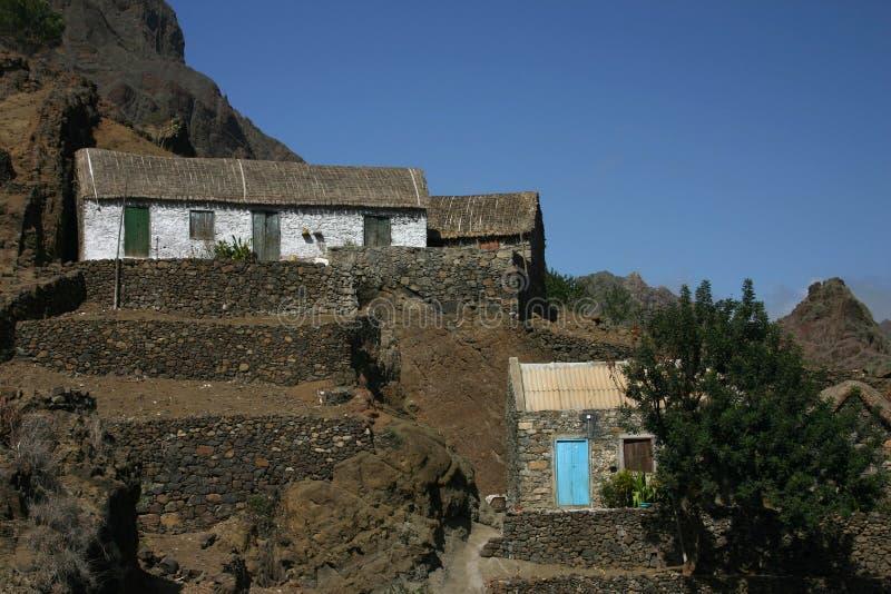 Dorp van Kaapverdië royalty-vrije stock foto
