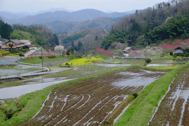Dorp van ontvolking in Shimane-ounau-machi stock afbeeldingen