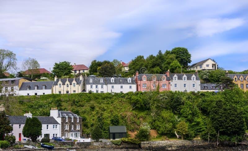 Dorp van Portree op het Eiland van Skye stock fotografie
