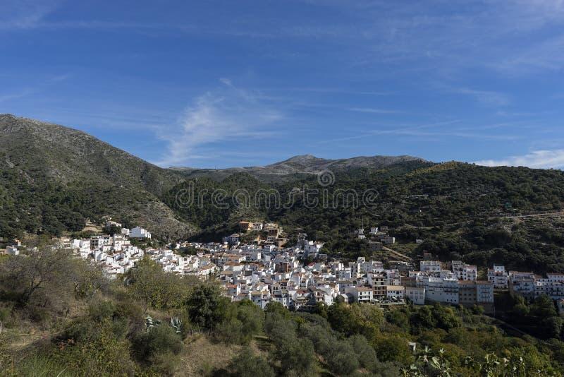 Dorpen van de provincie van Malaga, Igualeja stock foto's