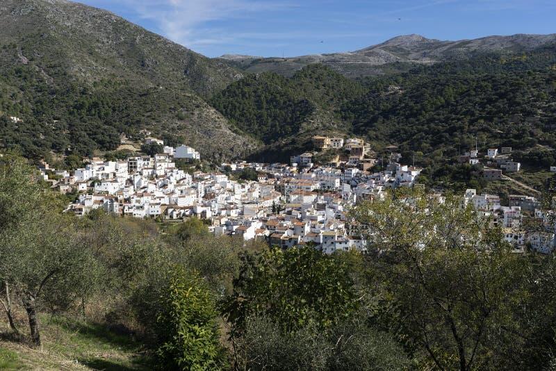 Dorpen van de provincie van Malaga, Igualeja royalty-vrije stock afbeelding