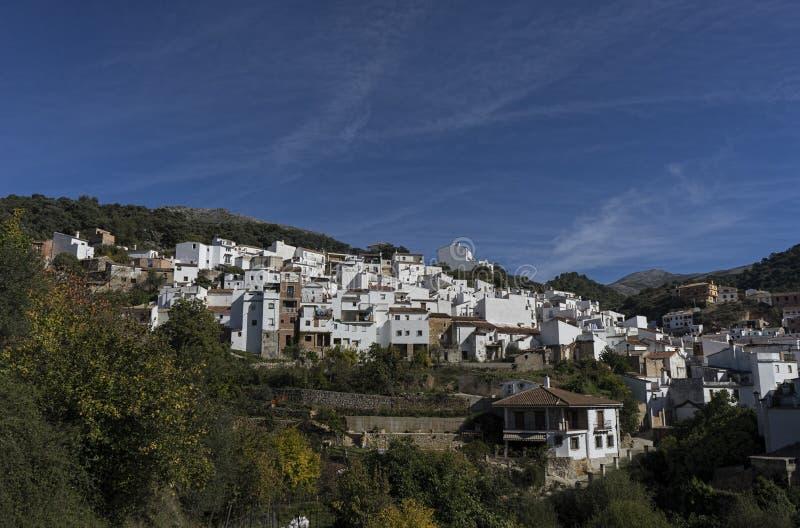 Dorpen van de provincie van Malaga, Igualeja stock fotografie