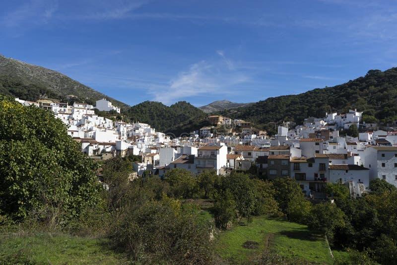 Dorpen van de provincie van Malaga, Igualeja stock foto