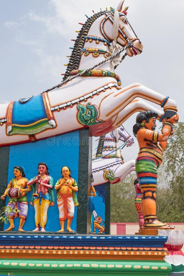 Dorpsbescherming in Tamil Nadu royalty-vrije stock foto
