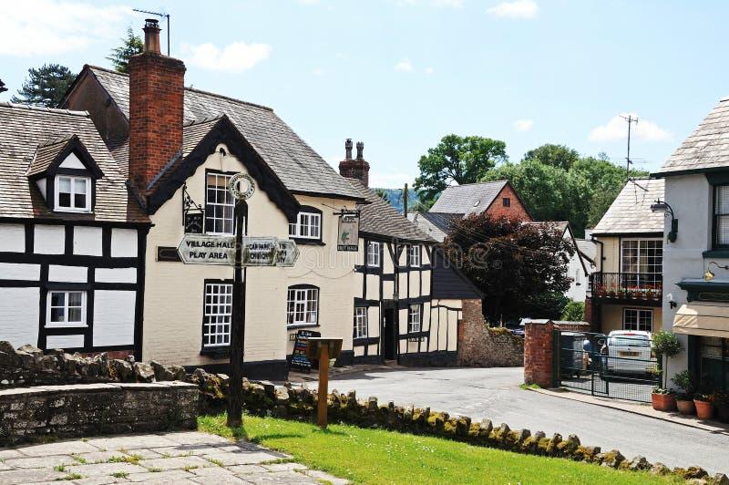 Dorpsgebouwen, Weobley royalty-vrije stock foto's