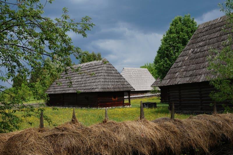 Dorpsmuseum Roemenië stock afbeelding