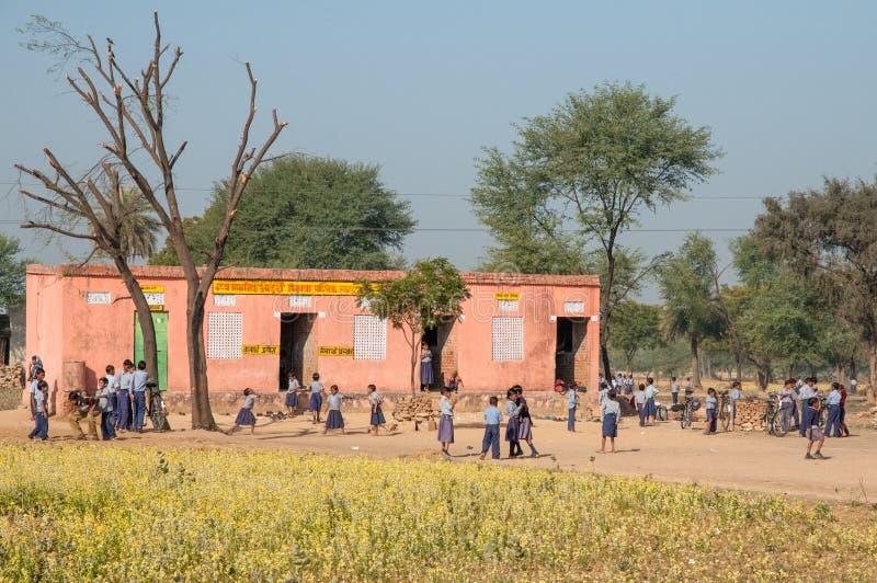 Dorpsschool in India royalty-vrije stock fotografie