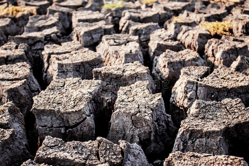 Dorre grond met textuur royalty-vrije stock foto
