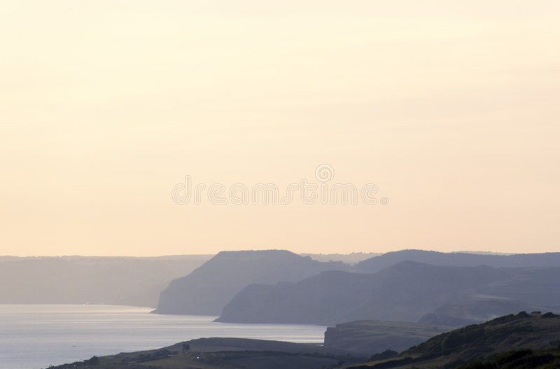 Dorset coast near bridport dorset england stock photography