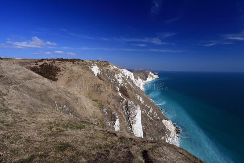 Dorset kust England royaltyfria foton