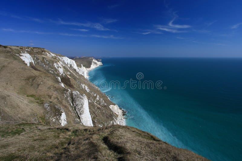 Dorset kust England arkivbilder