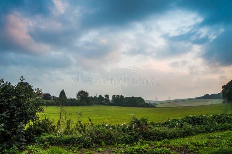Dorset-Märchenmagielandschaft lizenzfreie stockbilder