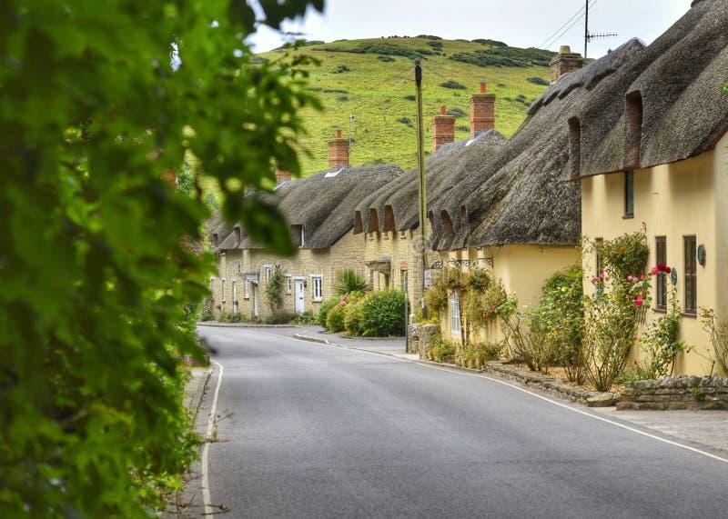 Dorset stugor royaltyfri bild