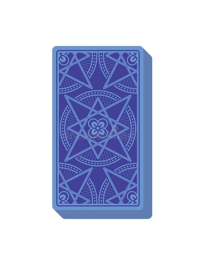 Dorso de las cartas de tarot cubierta Pila de tarjetas ilustración del vector