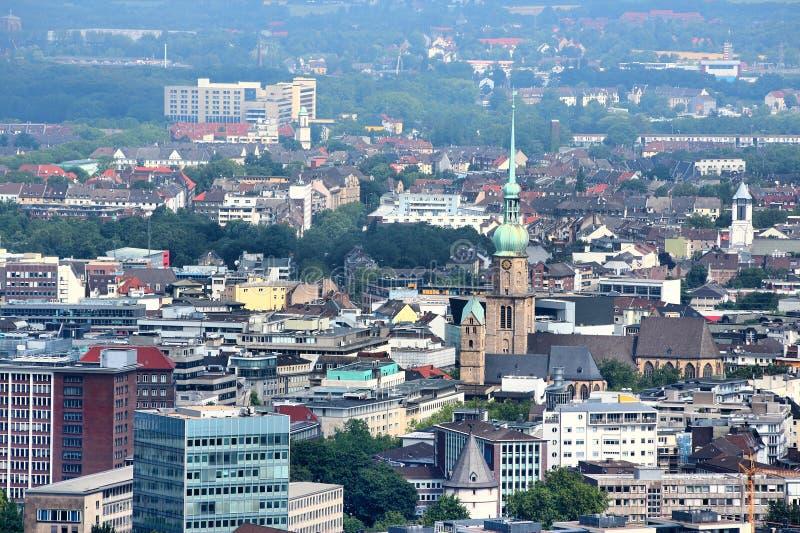 Dortmund. City in Ruhrgebiet (Ruhr Metropolitan Region) in Germany. Aerial view stock photography