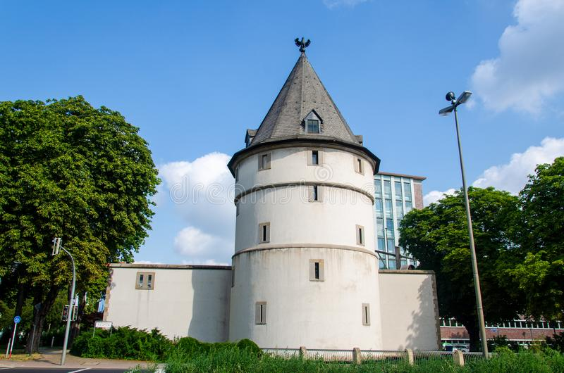 The Dortmund Adlerturm Eagle Tower is a reconstructed tower of the medieval city wall in Dortmund .Germany stock images