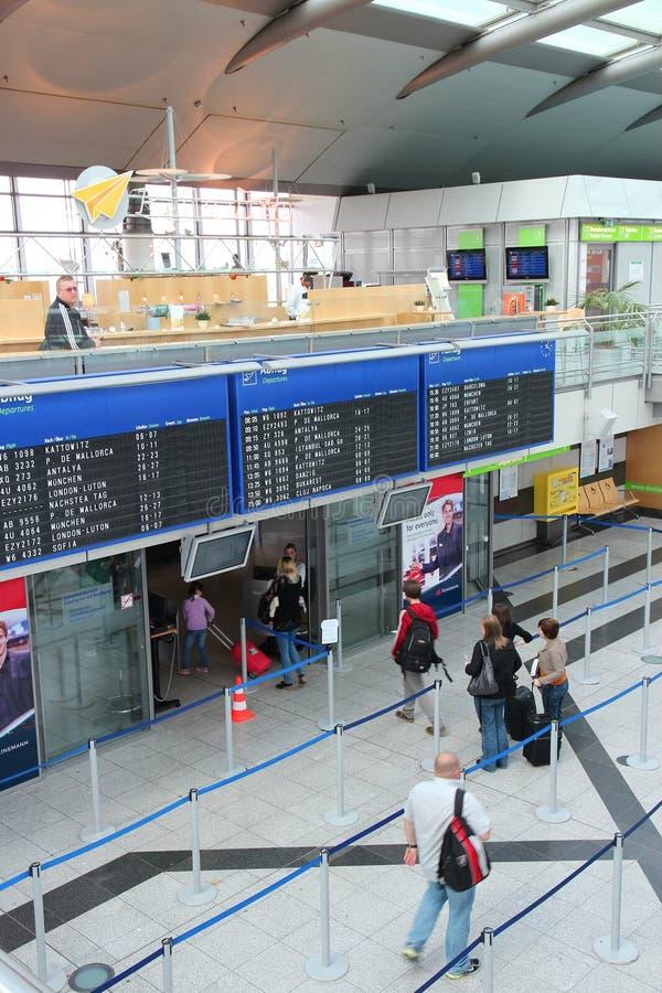 Dortmund flygplats, Tyskland royaltyfria bilder