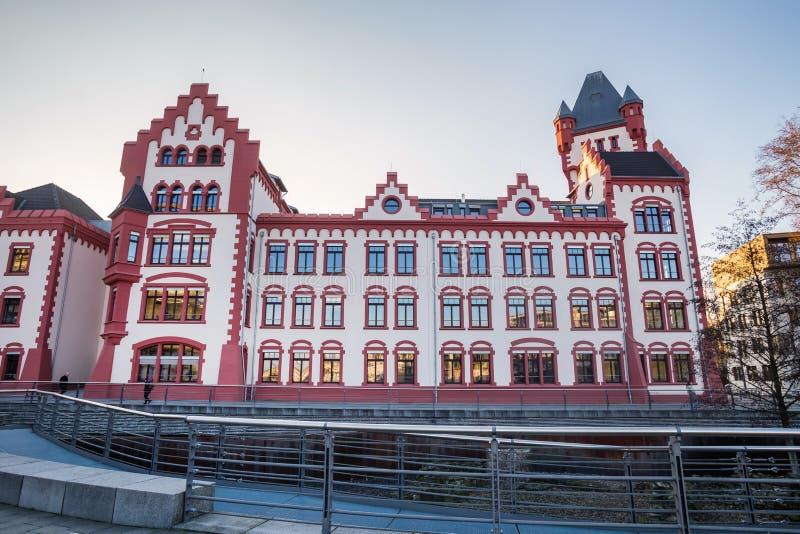 Dortmund Germany miasto w zimie zdjęcia stock