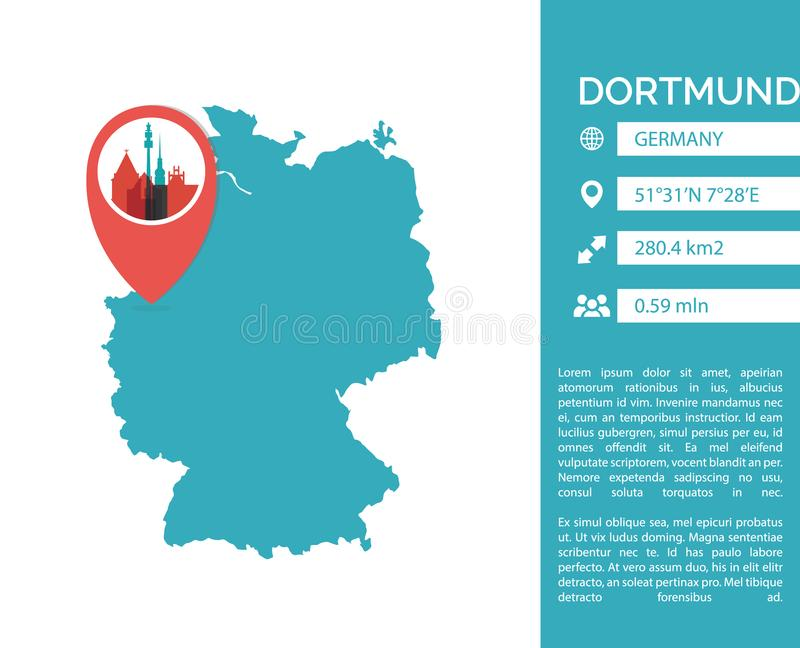 Dortmund map infographic vector isolated illustration stock vector download dortmund map infographic vector isolated illustration stock vector illustration of country concept gumiabroncs Gallery