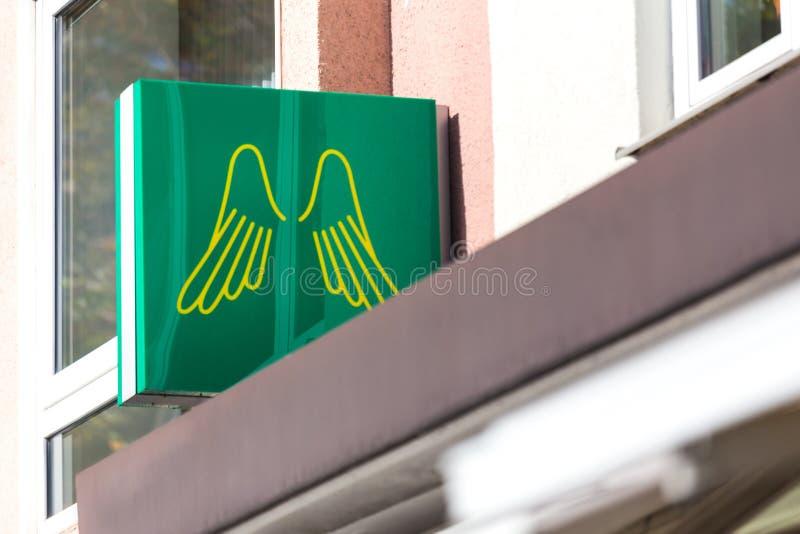 Dortmund, Noordrijn-Westfalen/Duitsland - 22 10 18: provinzial teken in Dortmund Duitsland stock afbeelding