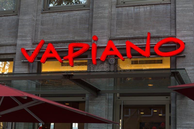 Dortmund, Noordrijn-Westfalen/Duitsland - 22 10 18: vapianoteken in Dortmund Duitsland royalty-vrije stock afbeeldingen