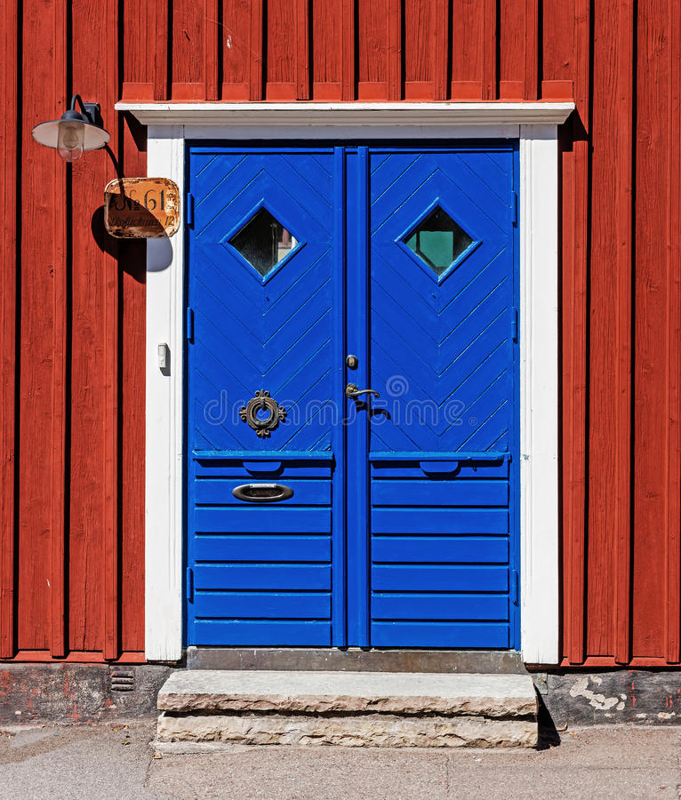 Dorway bleu photographie stock libre de droits