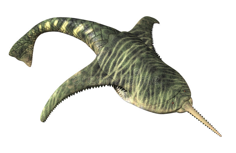Doryaspis - pescado prehistórico stock de ilustración