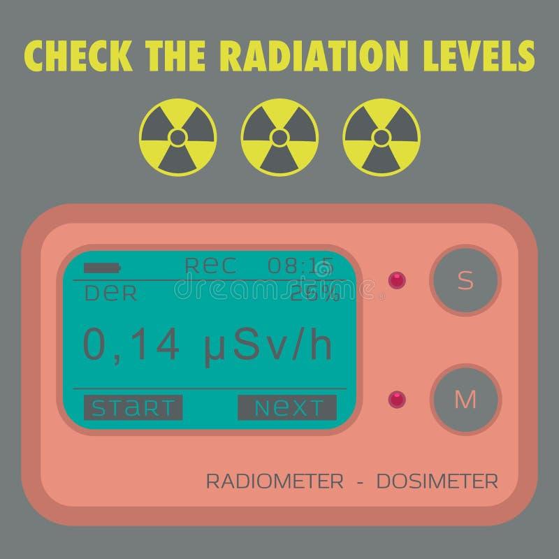 Dosímetro personal de la radiación gamma stock de ilustración