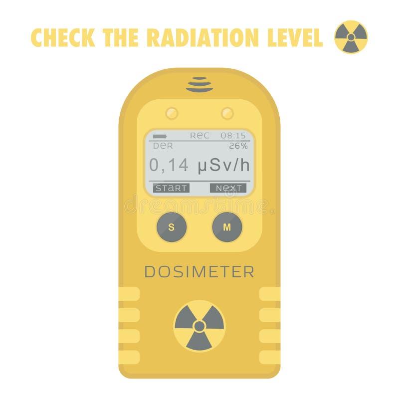 Dosímetro pessoal da radiação de gama ilustração do vetor