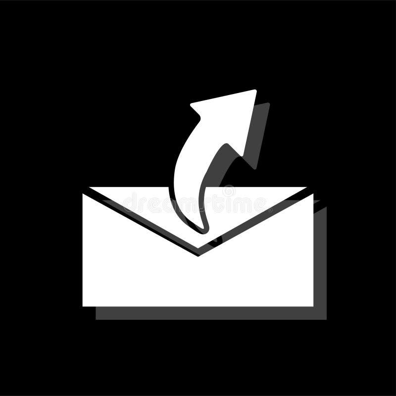 Dosłanie poczty ikony mieszkanie ilustracji