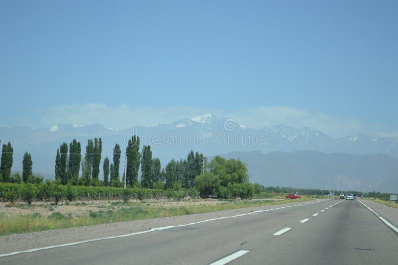 Dos Анды - Чили e Аргентина Cordilheira стоковое изображение rf