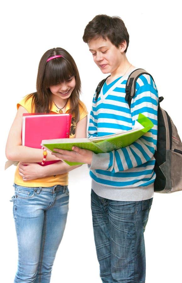 Dos adolescentes imagen de archivo libre de regalías