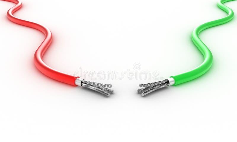 Dos alambres stock de ilustración
