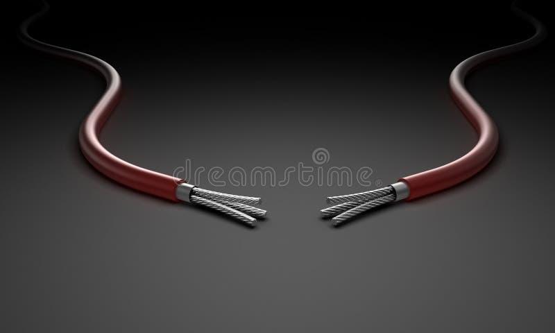 Dos alambres ilustración del vector