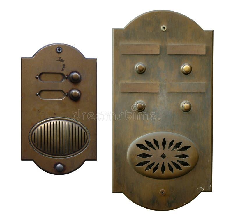 Dos alarmas de puerta foto de archivo libre de regalías