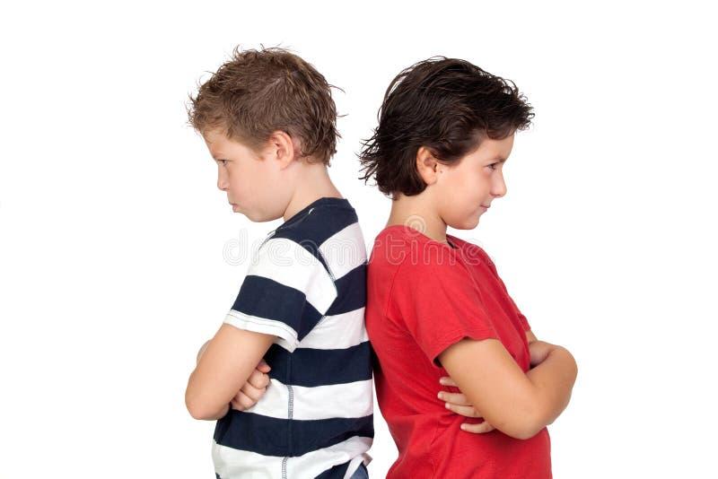 Dos amigos enojados fotografía de archivo libre de regalías
