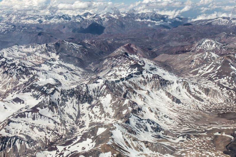 Dos Andes - Chile de Cordilheira - verão imagens de stock