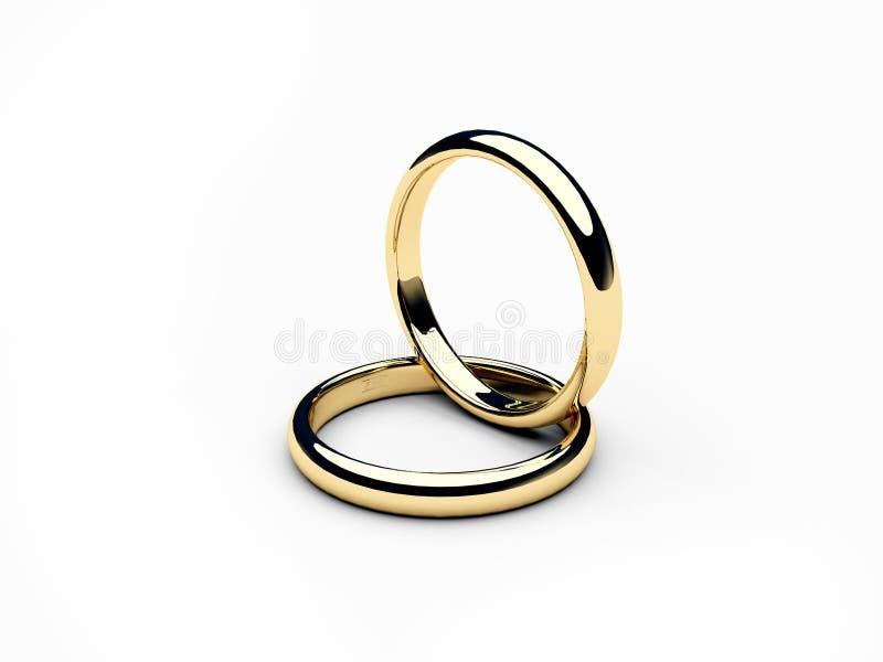 Dos anillos de oro 2 foto de archivo libre de regalías