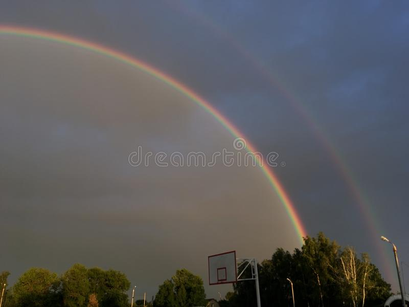 Dos arco iris imagen de archivo libre de regalías