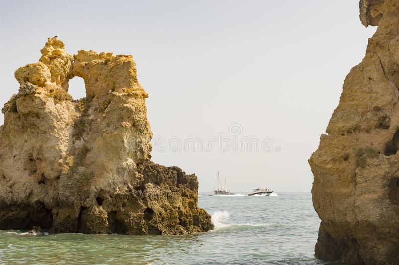 Dos Arrifes beach Algarve Portugal stock photo