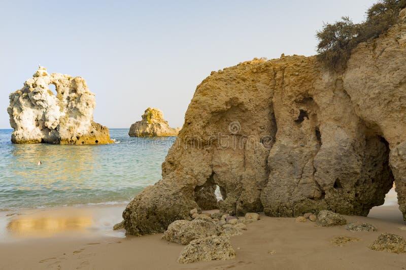 Dos Arrifes strand Algarve Portugal royaltyfria foton