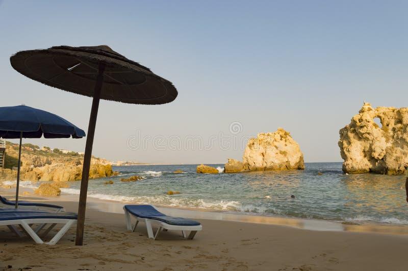 Dos Arrifes strand Algarve Portugal royaltyfri bild