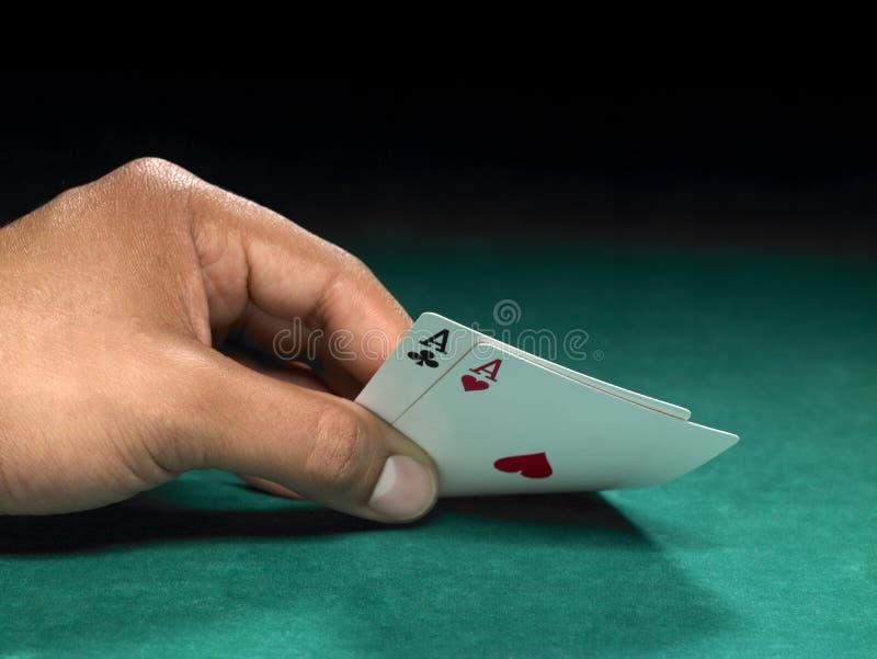 Download Dos as foto de archivo. Imagen de tarjeta, casino, estafador - 7289318